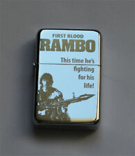 RAMBO -  chrome petrol lighter [Cd:521.mc-42-lP.] mini poster FIRST BLOOD