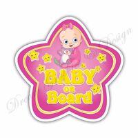 Baby on Board Full Color Adhesive Vinyl Sticker Window Car Bumper 067