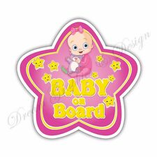 Baby on Board Full Color Adhesive Vinyl Sticker Window Car Bumper 067