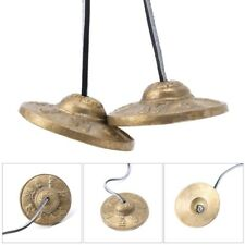 Tibetan Meditation Tingsha  Cymbal Bell Handcrafted with Buddhist Symbols Lucky