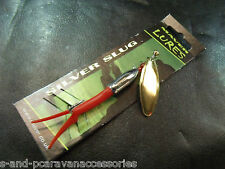 Maver Silver Slug lure 22g Gold Blade Red Rubber
