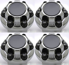 "4 PC fits CHEVY / GMC 6 Lug CHROME Center Caps 16"" & 17"" Steel Wheel Bolt On Hub"