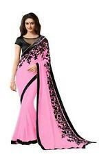Georgette Designer Fancy Saree Blouse Set Indian Bollywood Latest Saree