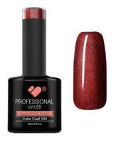 594 VB Line Lava Brown Burgundy Metallic - UV/LED nail gel polish- super quality