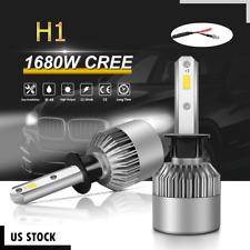Pair H1 CREE LED Headlight Kit 1680W 252000LM High Beam Bulbs Xenon 6000K White