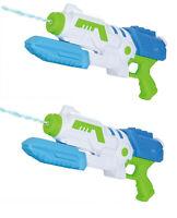 "2 x Large 15"" Water Gun Pump Action 37cm Super Power Soaker Pistol Wet Fun 6804"