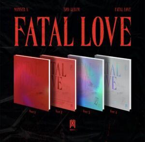 MONSTA X -VOL.3 [FATAL LOVE] ALBUM SELECT VER. PREORDER BONUS POSTER-KPOP SEALED