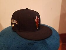 cb801810a1e Nike Dri Fit True ASU Arizona State Sun Devils Hat Baseball SZ 7 Black  Fitted