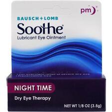 Pacote com 6 Bausch & Lomb Lubrificante Pomada oftálmica Noite Terapia Olho Seco 1/8oz Ea