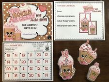 Mocha Me Crazy Addition to 20 Math File Folder Game Centers Supply Matching