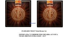 OFFERTA 2 SET CORDE D'ADDARIO NB1047 Nickel Bronze 10/47 PER CHITARRA ACUSTICA