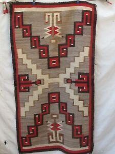 "Antique 1920's Navajo Rug Native American Indian Weaving 57""x 31"""