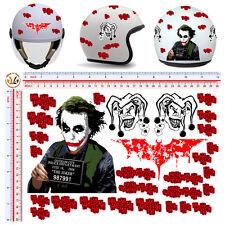 adesivi casco moto the joker sticker helmet tuning motocycle 28 pz.