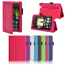 Case For Amazon Kindle Fire HD 7 Inch (2013) Leather Folio Stand Cover Elegant