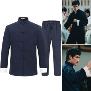 Bruce Lee Kung Fu Wing Chun Uniform Suit Sets Linen Martial Arts Taichi Uniform