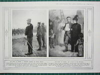 1915 WWI WW1 PRINT SPIRIT OF FRANCE WOUNDED GENERAL ACTIVE SERVICE SALUTE WOUNDE
