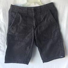 Vans Off the Wall SZ 28 Cargo Cotton Skater Shorts Black Gray
