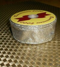 """ROLL OF RENAISSANCE 2000 GOLD SPARKLY RIBBON 1.5"""" WIDE X 10 YARDS"""