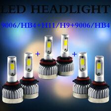 9006 9005 H11 Total 2940W LED Headlight High Low Beam Combo Kit 6500K White