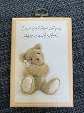 Hallmark Vintage Mini Plaque 1987 Love Isn't Love Till You Share It With Others