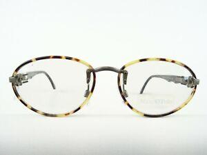 MARC O'Polo Herrenbrille Bohrbrille schwarz-Hornoptik ausgefallenes Design Gr. S