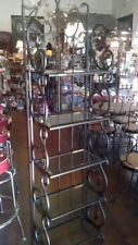 "Plume Bakers Rack Beveled Glass Shelves & Metal 72"" x 20"" x 11 3/4"" $175.00"