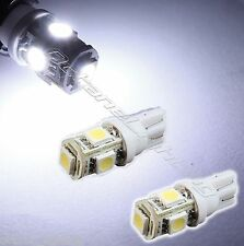 2-White 168 920 194 2825 T10 5-SMD LED Bulbs Parking City Back-Up License Lights