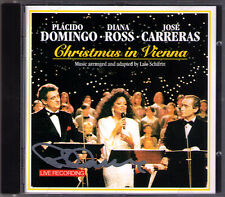 Placido DOMINGO Signiert CHRISTMAS IN VIENNA Jose CARRERAS Diana ROSS CD White