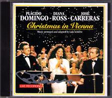 Placido DOMINGO Signiert CHRISTMAS IN VIENNA Jose CARRERAS Diana ROSS CD White
