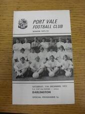 11/12/1971 PORT VALE V Darlington FA Cup [] (leggera piega)
