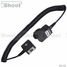 2.5m Flash I-TTL Off-Camera Shoe Cord/Cable wt PC SYNC Jack fr Nikon SC-28/SC-29