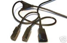 IEC C14  Male - 2 (Y Split) C13 Female Power Cable 1m 0.5m leg extensions