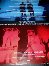 PET SHOP BOYS 1991 Promo Poster Ad STREETS HAVE NO NAME