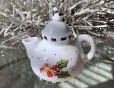 Kurt S Adler Mary Engelbreit Porcelain Tea Pot Christmas Ornament 3�
