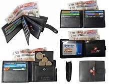 Para Hombre Mans Suave Cuero Billetera Tarjetas De Crédito Billeteras Regalo Caja De Regalo En Caja rl46kx
