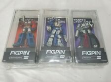 FIGPIN TRANSFORMERS lot 3 Optimus Prime Megatron 667 668 Soundwave EE Excl 672
