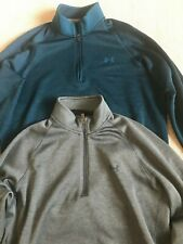 Lot of 2 Under Armour Cold Gear Men's 1/4 Zip Pullover Sweater Jacket Sz LG #L4