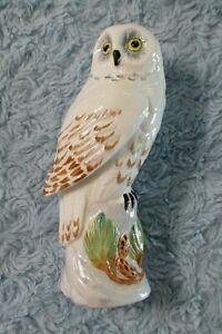 Linley Adams #256 Small Snowy Owl Figurine Crown Staffordshire England EUC
