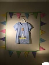 Girls Jnr Maggie Sky Blue Owl & Pussy Cat T-Shirt - Joules - Age 9-10 - BNWT