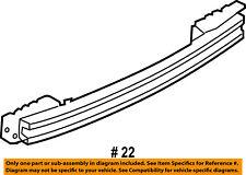 FORD OEM Rear Bumper-Impact Bar Reinforcement Beam Support Rebar FT4Z17906A