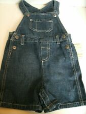 Arizona Boy's Denim Overall Shorts Shortalls Size 18 Months New