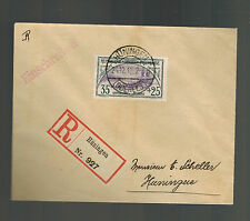 1918 Huningen France Registered Cover Local use # B7 Trench of Bayonets