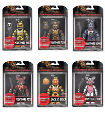 Set of All 6 NIGHTMARE - FIVE NIGHTS AT FREDDYS 6 inch Figures 2017 JACK-O-CHICA
