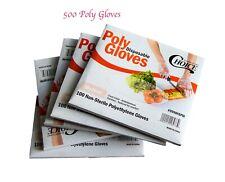 Polyethylene Food Service  Gloves  Poly Gloves  500pcs/ Medium