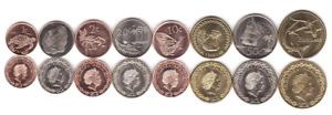 Tokelau __ set 8 coins 1 2 5 10 20 50 Cents 1 2 Dollars 2017 UNC Lemberg-Zp