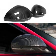 Fit For 2017 Alfa Romeo Giulia Quadrifoglio Turbo Carbon Fiber Mirror Cover Caps