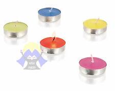 SET di 10 CANDELE Aromatiche VANIGLIA Colorate CERA Vera REGALO Profumata CASA