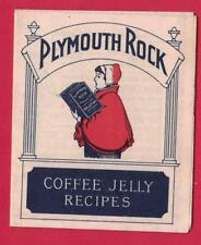 VINTAGE PLYMOUTH ROCK GELATINE COFFEE JELLY RECIPES BOOKLET GELATIN