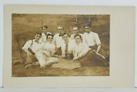 Rppc Handsome Group Young Men Posing on Lawn With Camera c1900s Postcard O16