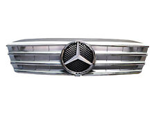 New Mercedes Benz W203 01-07C-Class 4 Fence Front Hood Sport Grill Silver Grill